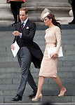 """QUEEN'S JUBILEE KATE and WILLIAM.Their Royal Highnesses The Duke and Duchess of Cambridge leave today's service at St Paul's. London. 05/06/2012.Mandatory Credit Photo: ©A Linnett/NEWSPIX INTERNATIONAL..**ALL FEES PAYABLE TO: """"NEWSPIX INTERNATIONAL""""**..IMMEDIATE CONFIRMATION OF USAGE REQUIRED:.Newspix International, 31 Chinnery Hill, Bishop's Stortford, ENGLAND CM23 3PS.Tel:+441279 324672  ; Fax: +441279656877.Mobile:  07775681153.e-mail: info@newspixinternational.co.uk"""