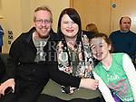 Derek, Aisling and Sarah Teefy at the Comhaltas Céilí in Ballsgrove Community Centre. Photo:Colin Bell/pressphotos.ie