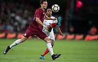 Trent Alexander-Arnold (Liverpool) of England U21 clears the ball during the UEFA EURO U-21 First qualifying round International match between England 21 and Latvia U21 at the Goldsands Stadium, Bournemouth, England on 5 September 2017. Photo by Andy Rowland.
