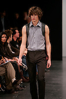 October 24 2005 , Montreal (Qc) Canada<br />  the latest D.U.B.U.C. Philippe Dubuc collection during Montreal's fashion Week (Semaine de la Mode de MontrÈal).<br /> One of Canada's top men's and women's wera designer, Dubuc has been selected for the MEN IN SKIRTS exhibit at Vitoria & Albert Museum in London, England.<br /> Photo : (c) 2005 Pierre Roussel