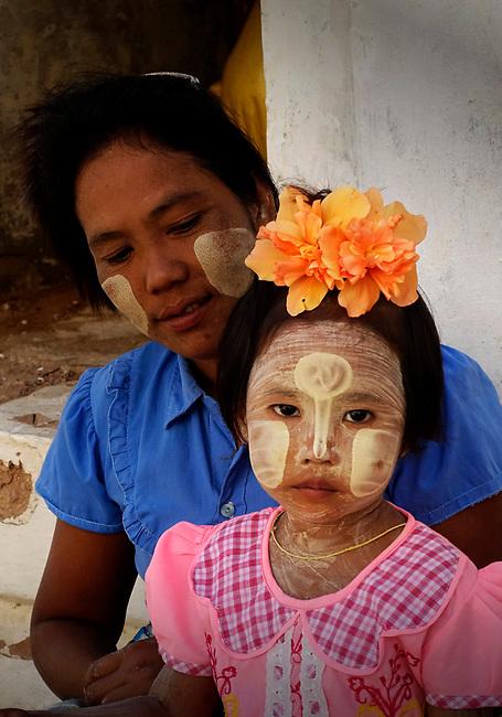 Child at market in Bagan
