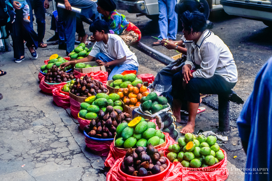 Riau Islands, Bintan. Selling fruit in Tanjung Pinang (TP).