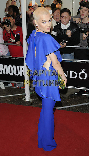 Jessie J ( Jessica Ellen Cornish )<br /> The Glamour Women Of The Year Awards 2013, Berkeley Square Gardens, London, England.<br /> June 4th, 2013<br /> full length dress blue shaved head bleach dyed blonde hair green clutch bag trousers looking over shoulder <br /> CAP/CAN<br /> &copy;Can Nguyen/Capital Pictures