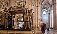 Spanien, Andalusien, Sevilla: Sarkophag des Kolumbus in der Kathedrale von Sevilla | Spain, Andalusia, Seville: Seville Cathedral. Monument to Christopher Columbus, built in late 19th century