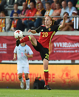 20170613 - LEUVEN ,  BELGIUM : Belgian  pictured during the female soccer game between the Belgian Red Flames and Japan , a friendly game before the European Championship in The Netherlands 2017  , Tuesday 13 th Juin 2017 at Stadion Den Dreef  in Leuven , Belgium. PHOTO SPORTPIX.BE | DIRK VUYLSTEKE