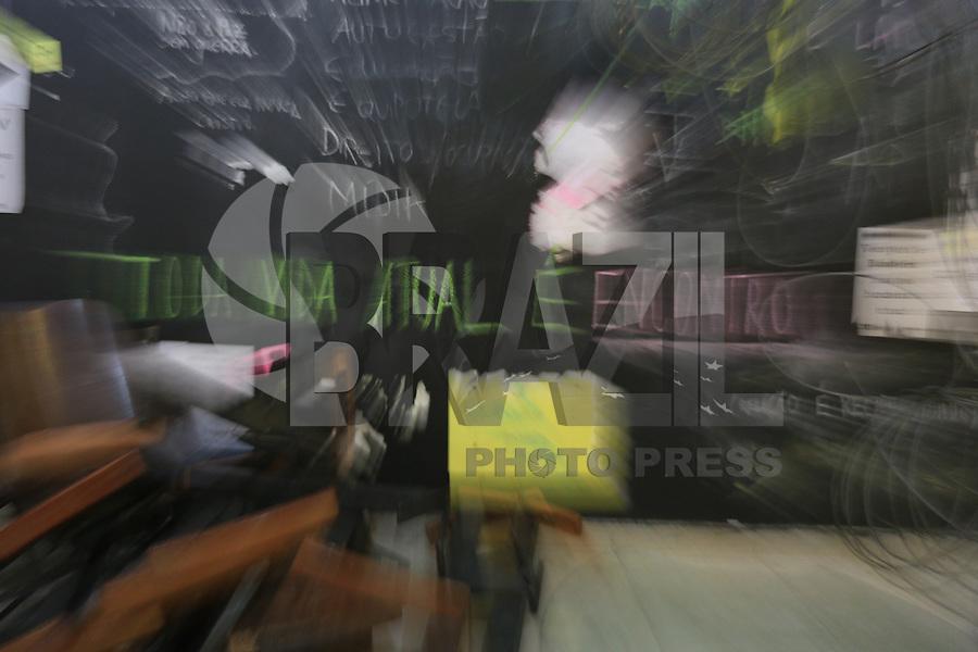 SÃO PAULO, SP, 22.07.2016 - OCUPAÇÃO-FUNARTE - Artistas e estudantes contra Temer continuam ocupando a Funarte de São Paulo (SP) nesta terça-feira,22. (Foto: Yuri Alexandre/Brazil Photo Press)