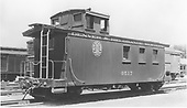 Long caboose #0517.<br /> D&amp;RGW  Alamosa, CO  Taken by Jackson, Richard B. - 7/1939