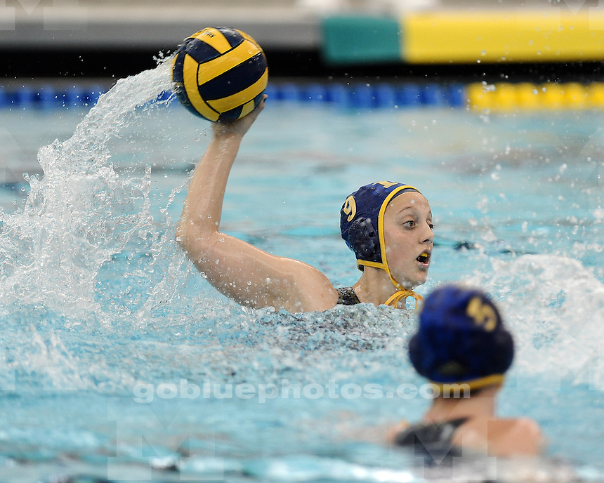 The University of Michigan women's water polo team lost to San Jose State University, 9-6, at Canham Natatorium in Ann Arbor, Mich., on January 20, 2013.