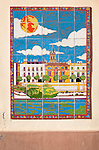Ceramic tile picture of Calle Betis, Triana district Guadalquivir river, Seville, Spain