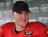 Josh McCown #15, New York Jets Quarterback, speaks with the media after team practice at the Atlantic Health Jets Training Center in Florham Park, NJ on Sunday, July 29, 2018.