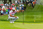 CROMWELL, CT. 21 June 2019-062119 - PGA Tour player Jason Day looks over his birdie putt on the par 3 eighth hole, during the second round of the Travelers Championship at the TPC River Highlands in Cromwell on Thursday. Bill Shettle Republican-American