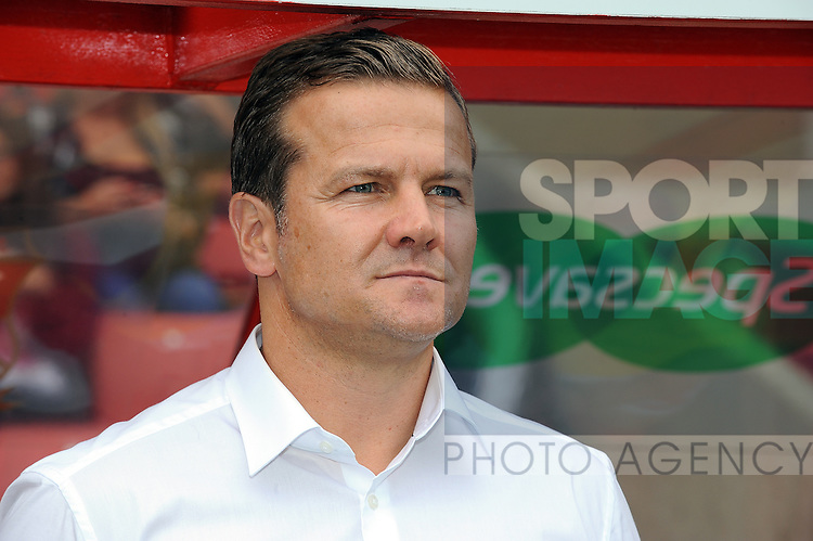 Swindon Town Manager Mark Cooper<br /> - English League One - Swindon Town vs Sheffield Utd - County Ground Stadium - Swindon - England - 29th August 2015