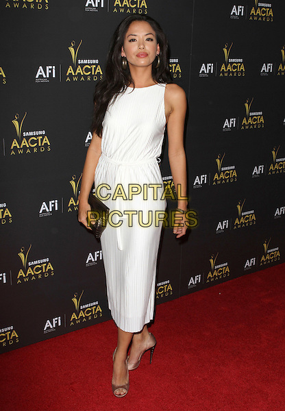 Stephanie Jacobson.2012 Australian Academy Of Cinema And Television Arts Awards (AACTA) Held at Soho House, West Hollywood, California, USA, 27th January 2012..full length white dress long maxi clutch bag .CAP/ADM/KB.©Kevan Brooks/AdMedia/Capital Pictures.