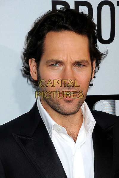 """Paul Rudd.""""Our Idiot Brother"""" Los Angeles Premiere held at Arclight Cinemas, Hollywood, California, USA..August 16th, 2011.headshot portrait black white stubble facial hair looks angry upset mouth open.CAP/ADM/BP.©Byron Purvis/AdMedia/Capital Pictures."""
