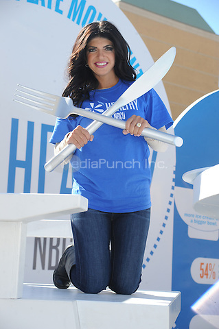 "Teresa Giuidice promotes ""Healthy at NBCU"" initiative's third annual ""Healthy Week"" observance at Unions Square in New York City. October 11, 2012.. Credit: Dennis Van Tine/MediaPunch"