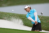 November 17, 2011: Pornanong Phatlum (Thailand) hits from the green side bunker of the 3rd green during first round golf action from the CME Group Titleholders held at The Grand Cypress Resort, Orlando, Fla.