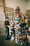 Kenji Yoshida, Avant Garde artist and former Kamikaze pilot. I shot these photos in his Montparnasse studio, Paris, in 2008, during the shooting of my documentary, Kenji Yoshida - Artist of the Soul.
