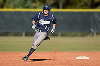 Georgetown Hoyas infielder Ryan Busch (1) runs the bases during a game against the South Dakota State JackRabbitsat South County Regional Park on March 9, 2014 in Port Charlotte, Florida.  Georgetown defeated South Dakota 7-4.  (Mike Janes/Four Seam Images)