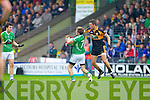Shane Carroll Austin Stacks in action against Matthew Galvin Saint Kierans in the Quarter Finals of the County Championship at Austin Stack Park on Sunday.