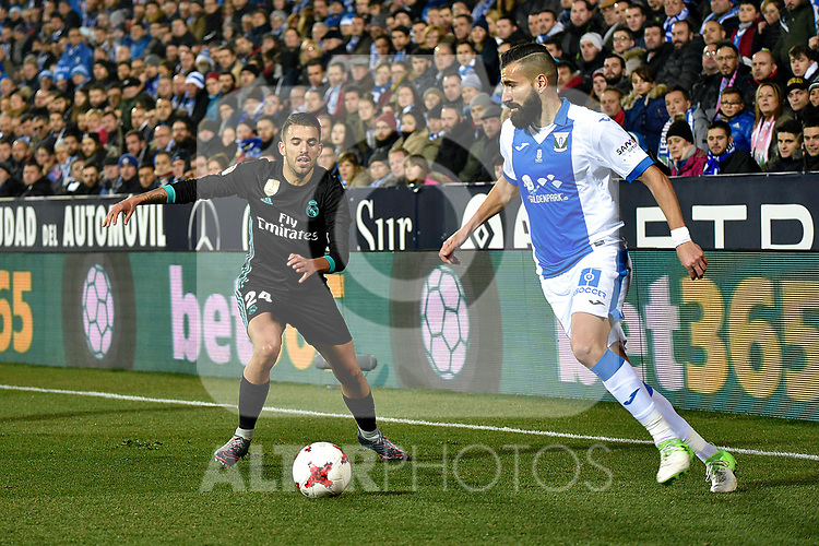 Leganes Dimitrios Siovas vs Real Madrid during Copa del Rey  match. A quarter of final go. 20180118.