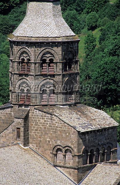 Europe/France/Auverne/63/Puy-de-Dôme/Orcival: La basilique Notre-Dame (romane) - Détail du clocher