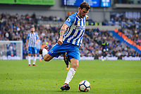 Pascal Gross of Brighton & Hove Albion (13) during the Premier League match between Brighton and Hove Albion and Everton at the American Express Community Stadium, Brighton and Hove, England on 15 October 2017. Photo by Edward Thomas / PRiME Media Images.