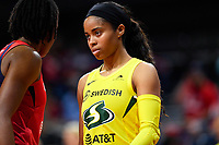 Washington, DC - June 14, 2019: Seattle Storm guard Jordin Canada (21) during game between Seattle Storm and Washington Mystics at the St. Elizabeths East Entertainment and Sports Arena in Washington, DC. The Storm hold on to defeat the Mystics 74-71. (Photo by Phil Peters/Media Images International)