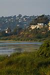 Houses next to Buena Vista Lagoon, Carlsbad, San Diego, California