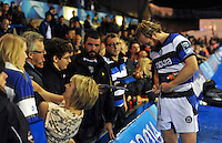 Nick Abendanon signs autographs after the match. Amlin Challenge Cup Final, between Bath Rugby and Northampton Saints on May 23, 2014 at the Cardiff Arms Park in Cardiff, Wales. Photo by: Patrick Khachfe / Onside Images