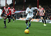 2nd December 2017, Griffen Park, Brentford, London; EFL Championship football, Brentford versus Fulham; Ryan Sessegnon of Fulham and Josh Clarke of Brentford chasing the ball