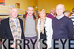 Pictured at the launch of the book 'Focail agus Foclóireacht: T O'Neill Lane' by Seaghan Mac an tSionnaigh in Abbeyfeale Library on Thursday night were L-R: John Browne, Abbeyfeale, Mike MacDomhnaill, Newcastle West, Angela Browne and Councillor Seamus Browne, Abbeyfeale. The book is a biography and a critique of O'Neill Lane's work as a lexicographer.