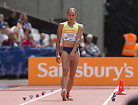 Jessica ENNIS-HILL of GBR  for the Long Jump during the Sainsburys Anniversary Games at the Olympic Park, London, England on 25 July 2015. Photo by Andy Rowland.