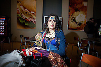 Adrienne Reynolds, cosplaying for the first time at a Magic event, is a non-traditional undergraduate student studying anthropology at Bryn Mawr College. Her senior thesis focuses on Magic: The Gathering, and she plans on continuing her research into a PhD program. <br /> <br /> Danny Ghitis for Bloomberg Businessweek