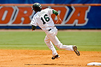 May 31, 2009:  NCAA Division 1 Gainesville Regional:    Jacksonville LF Kyle Fleming (16) rounds second base during 2nd round regional action at Alfred A. McKethan Stadium on the campus of University of Florida in Gainesville.  Miami Hurricanes eliminated Jacksonville 4-0 and will advance to the finals against Florida............