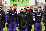 09.11.2019, Stadion an der Bremer Brücke, Osnabrück, GER, 2. FBL, VfL Osnabrueck vs. VfB Stuttgart<br /> <br /> ,DFL REGULATIONS PROHIBIT ANY USE OF PHOTOGRAPHS AS IMAGE SEQUENCES AND/OR QUASI-VIDEO, <br />   <br /> im Bild<br /> v.li. Joost van Aken (VfL Osnabrück #13) und Marcos Alvarez (VfL Osnabrück #9)<br /> <br /> <br /> Foto © nordphoto / Paetzel