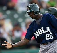 Maybin, Cameron 3214.jpg.  PCL baseball featuring the New Orleans Zephyrs at Round Rock Express  at Dell Diamond on June 19th 2009 in Round Rock, Texas. Photo by Andrew Woolley.
