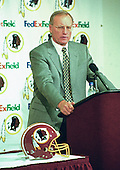 Washington Redskins Head Coach/Director of Football Operations – Marty Schottenheimer announces the team has used it's pick in the first round of the 2001 NFL Draft to select wide receiver Rod Gardner out of Clemson at FedEx Field in Landover, Maryland on April 21, 2001.<br /> Credit: Howard L. Sachs / CNP