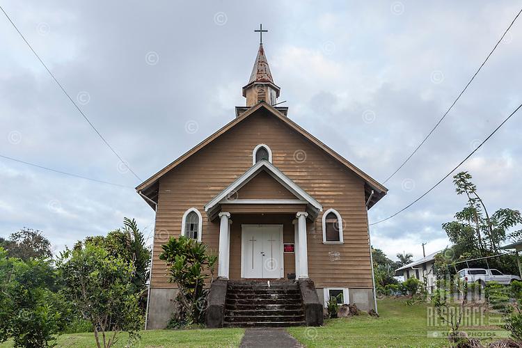Old church in Papaikou, Big Island.