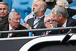 Sir Alex Ferguson, Albert Morgan and David Gill during the Barclays Premier League match at Old Trafford. Photo credit should read: Philip Oldham/Sportimage