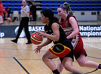 Action from the National Under-23 Basketball Championships Tournament women's final between Waikato and Waitaha Canterbury at Te Rauparaha Arena in Porirua, New Zealand on Saturday, 11 August 2018. Photo: Dave Lintott / lintottphoto.co.nz