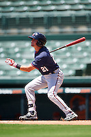 GCL Twins second baseman Dane Hutcheon (21) at bat during a game against the GCL Orioles on August 11, 2016 at the Ed Smith Stadium in Sarasota, Florida.  GCL Twins defeated GCL Orioles 4-3.  (Mike Janes/Four Seam Images)