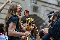 Nova York (EUA), 10/07/2019 - Taça de Campeao é exibida pela Seleção feminina de futebol dos Estados Unidos atual campeão da Copa do Mundo de Futebol Feminino 2019 é recebida pelos torcedores na cidade de Nova York nesta quarta-feira, 10. (Foto: William Volcov/Brazil Photo Press)