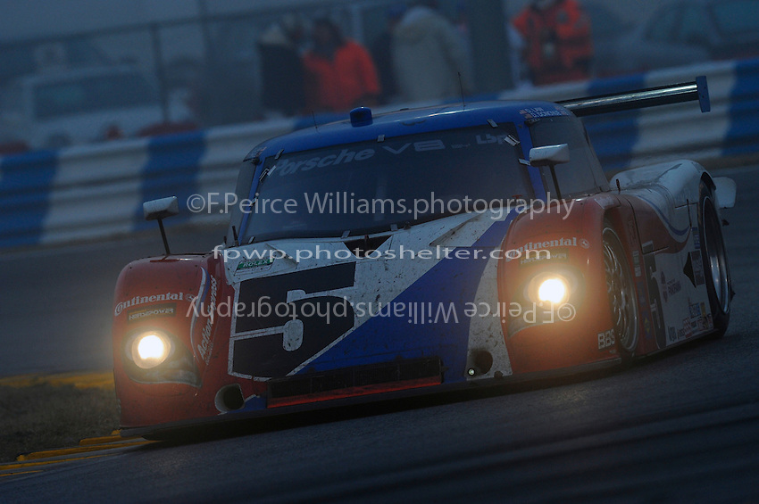 #5 Action Express Porsche/Riley of Darren Law, David Donohue, Buddy Rice & Burt Frisselle