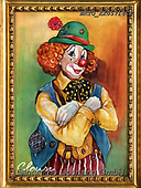 Alfredo, CHILDREN, KINDER, NIÑOS, paintings+++++,BRTOXX05714CP,#k#, EVERYDAY ,clowns