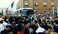 """Querétaro, Qro. 01 enero de 2014.-  Veinte años después dle levantamiento en armas y su primera incursión en San Cristobal de las Casas, Chiapas;  en Obture Press Agency, recordamos los momentos más importantes de la visita del EZLN (Ejército nacional de Liberación nacional) en la ciudad de Querétaro. <br /> <br /> Durante el """"Zapatour"""", el infortunado accidente a la entrada de la ciudad donde perdió la vida un motociclista de la Policía Federal que escoltaba la Caravana  Zapatista; el incendiario discurso del Sub Comandante Marcos donde nombró """"Firulais"""" al entonces gobernador del Estado, Ignacio Loyola, quien había considerado en declaraciones a la prensa que """"ejercito solo hay uno, los demás son traidores a la patria, y para los traidores está el cerro de las campanas"""". <br /> <br /> Días después se presentaría con sus propuestas y demandas en el Congreso de la Unión.<br /> <br /> <br /> Foto: Demian Chávez / Archivo / Obture Press Agency."""