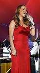 SANTA MONICA, CA. - October 15: Singer Mariah Carey performs during the 2008 Spirit Of Life Award Dinner on October 15, 2008 in Santa Monica, California.