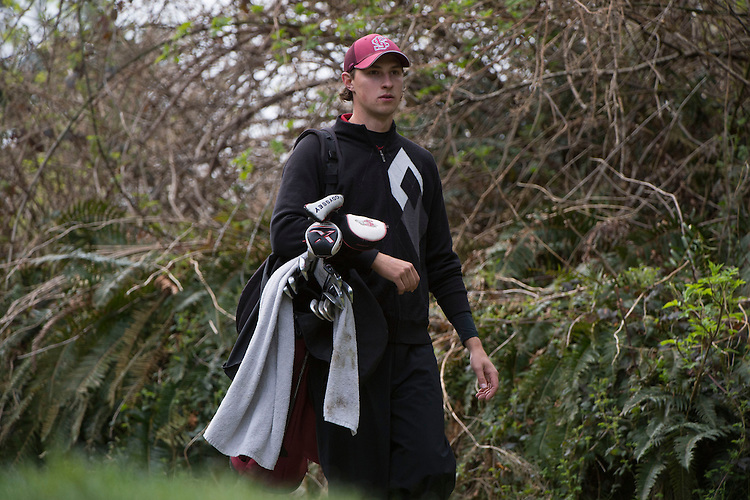 April 17, 2013; Bremerton, WA, USA; Santa Clara Broncos golfer Scott Lowe during the WCC Golf Championships at Gold Mountain Golf Club.