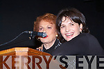 AWARD: Star of the Sliver Screen Maureen O'Hara presenting actress Juilette Binoche the Kerry Film Festival Maureen O'Hara Outstanding Achievement Award at Siamsa Tire on Saturday.