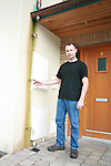 Eamonn Stafford shows where the copper drain pipes were stolen from the front of his apartment...Photo NEWSFILE/Jenny Matthews.(Photo credit should read Jenny Matthews/NEWSFILE)....This Picture has been sent you under the condtions enclosed by:.Newsfile Ltd..The Studio,.Millmount Abbey,.Drogheda,.Co Meath..Ireland..Tel: +353(0)41-9871240.Fax: +353(0)41-9871260.GSM: +353(0)86-2500958.email: pictures@newsfile.ie.www.newsfile.ie.FTP: 193.120.102.198.