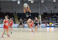 08.02.2017 New Zealand's Grace Rasmussen in action during the Wales v Silver Ferns netball test match at Swansea University at Ice Arena Wales. Mandatory Photo Credit ©Ian Cook/Michael Bradley Photography.